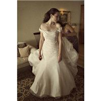 Chapel Train Short Sleeves Elegant Ivory Mermaid with Sash Zipper Up Taffeta Garden Off-the-shoulder