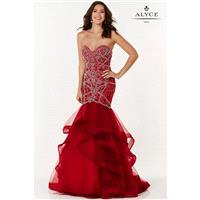 Red Alyce Prom 6746-17 Alyce Paris Prom - Rich Your Wedding Day
