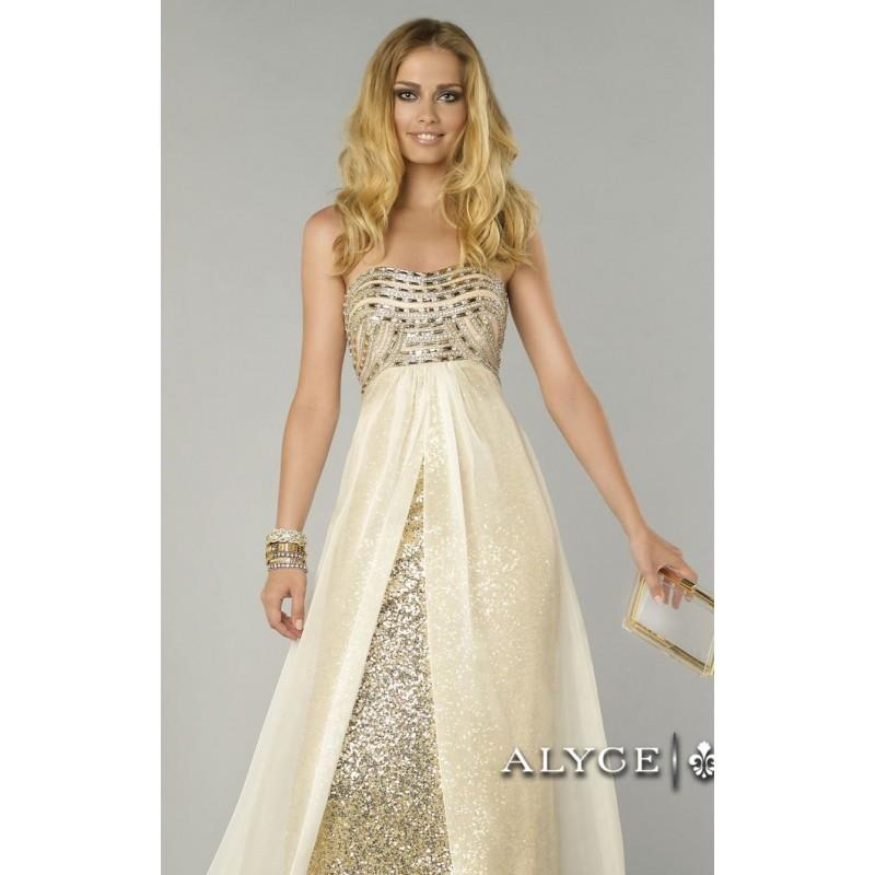 My Stuff, Strapless Sequined Dresses by Alyce Prom 6440 - Bonny Evening Dresses Online