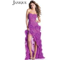 Janique J110 White,Aqua,Lavender Dress - The Unique Prom Store