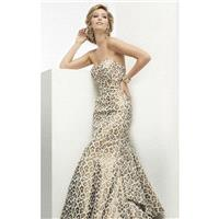 Leopard Strapless Leopard Printed Gown by Jasz Couture - Color Your Classy Wardrobe