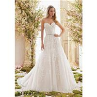 Voyage by Mori Lee 6834 Strapless Lace A-Line Wedding Dress - Crazy Sale Bridal Dresses|Special Wedd
