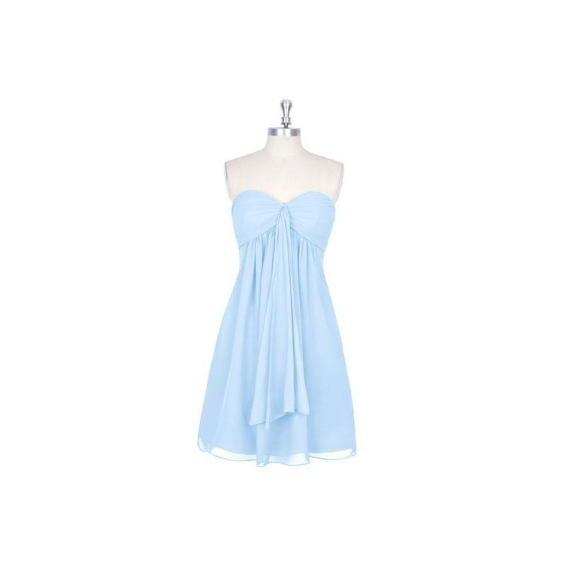 My Stuff, Sky_blue Azazie Jessica - Sweetheart Back Zip Chiffon Mini Dress - Charming Bridesmaids St