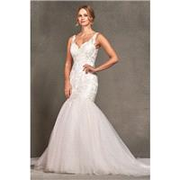 Style 1700784 by LQ Designs - Ivory  White  Blush Lace  Tulle Low Back  V-Back Floor V-Neck Wedding