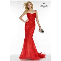 Red Alyce Mothers Gowns Long Island Alyce Black Label 5780 Alyce Paris Black Label - Top Design Dres