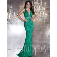 Panoply 14746 Prom Dress - Long Fitted Sleeveless, V Neck Panoply Prom Dress - 2017 New Wedding Dres