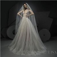Ersa Atelier Spring/Summer 2018 Miss Hunt Chapel Train Elegant Champagne Sleeveless V-Neck Ball Gown