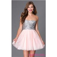 Short Strapless Sweetheart Dress 586F636 with Sequin Bodice by Bee Darlin - Brand Prom Dresses|Beade