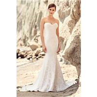 Mikaella Spring/Summer 2017 2117 Ivory Sweet Chapel Train Sleeveless Sheath Sweetheart Split Front L