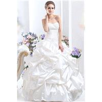 Glamour Princess Sweetheart Chapel Train Taffeta Wedding Dress CWLT130FA - Top Designer Wedding Onli