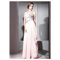 In Stock Elegant Tencel & Malay Satin & Matte Silk A-line Strapless Neckline Floor-length Evening Dr