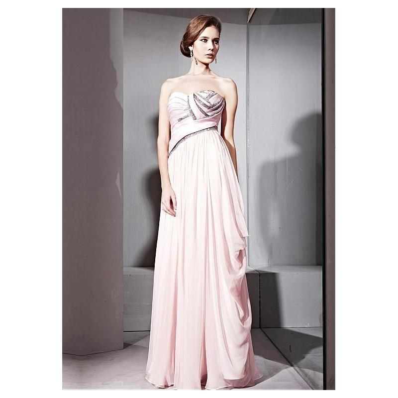 My Stuff, In Stock Elegant Tencel & Malay Satin & Matte Silk A-line Strapless Neckline Floor-length