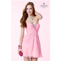 Blue Radiance Alyce Paris 3668 - Short Chiffon Dress - Customize Your Prom Dress