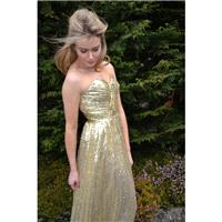 Ready to Wear 'Cadence' dress sequin strapless sweetheart bodice gown for evening, formal, prom, pag