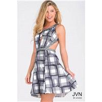 Jovani JVN41540 Homecoming Dress - A Line Scoop Short JVN by Jovani Homecoming Dress - 2017 New Wedd