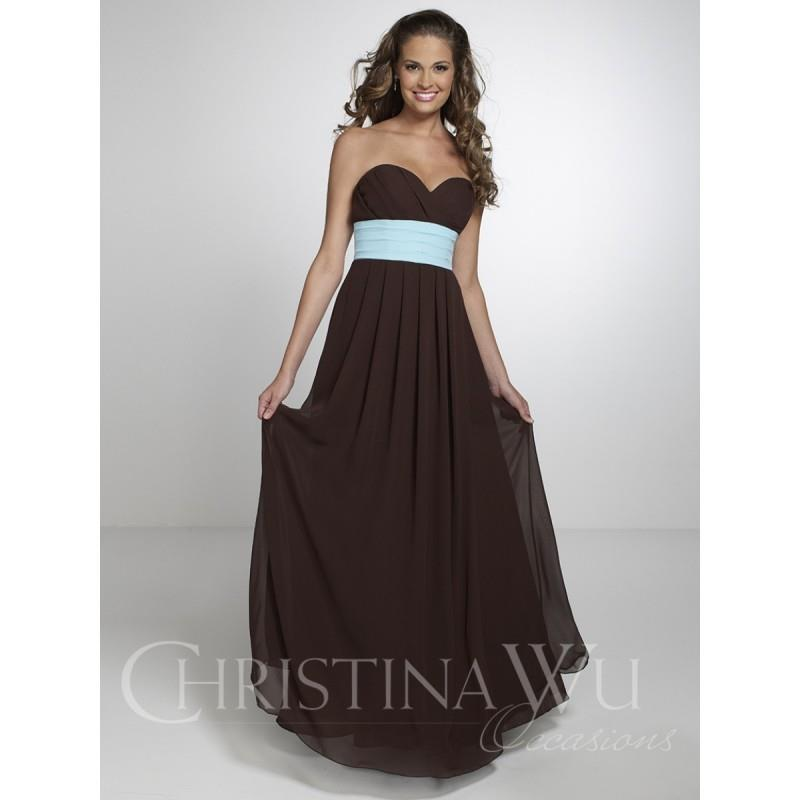 My Stuff, Christina Wu Occasions 22554 Strapless Sweetheart Neckline and Empire Waist Bridesmaid Dre