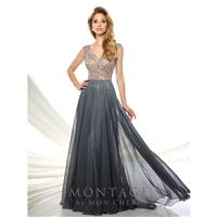 Montage by Mon Cheri 116940 Evening Dress - Montage by Mon Cheri Bateau, Illusion Social and Evening