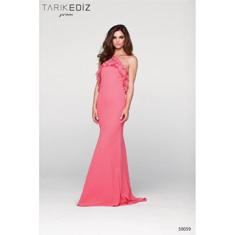My Stuff, Tarik Ediz Prom 50059 Tarik Ediz Prom - Top Design Dress Online Shop