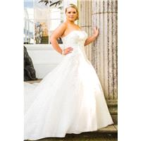Plus-Size Dresses Style BB16316 by BB+ by Special Day - Ivory  White Lace  Tulle Floor Strapless A-L