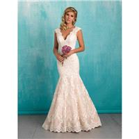 Allure Bridals 9320 Fit and Flare Lace Wedding Dress - Crazy Sale Bridal Dresses|Special Wedding Dre