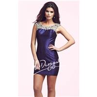 Embellsihed Sheer Bateau Neckline Dress by Mac Duggal Homecoming 82091N - Bonny Evening Dresses Onli