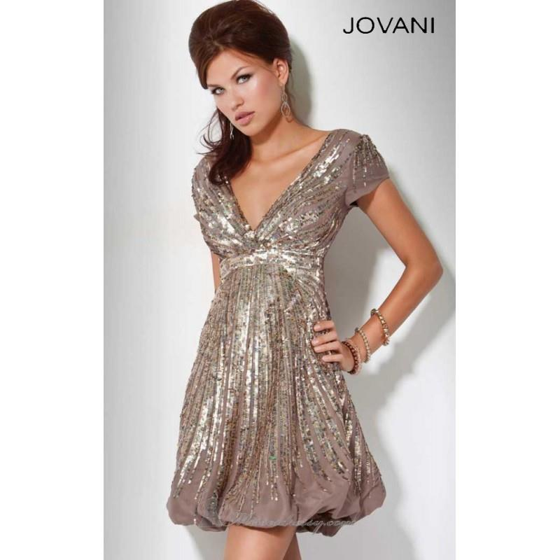My Stuff, Classical Cheap Sequin Cocktail Dress by Jovani Prom 158706 Dress New Arrival - Bonny Even