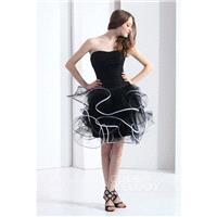 Chic Ball Gown Sweetheart Short-Mini Tulle Black Cocktail Dress COLB1301B - Top Designer Wedding Onl