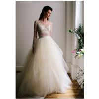 Flourish Ariel Top/Star Skirt - Ball Gown V-Neck Natural Floor Sweep Silk Lace - Formal Bridesmaid D