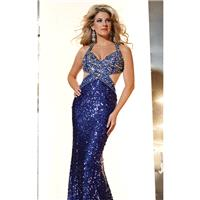 Royal Sequined Embellished Gown by Panoply - Color Your Classy Wardrobe