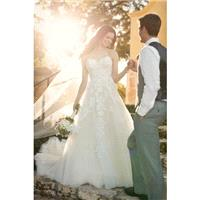 Style D2121 by Essense of Australia - Sleeveless A-line Floor length Chapel Length LaceTulle Sweethe