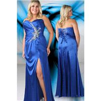 Xcite Plus Size Prom by Impression 35073 Royal,Hot Pink Dress - The Unique Prom Store