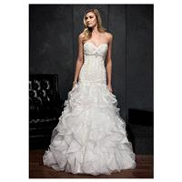 Gorgeous Organza Satin Sweetheart Neckline Natural Waistline Mermaid Wedding Dress With Lace Appliqu