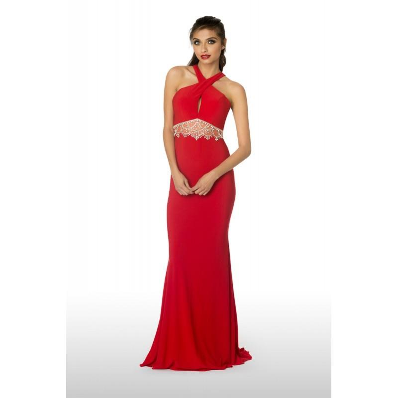 My Stuff, 2Cute Prom 61121 Red,Black,Lt Green Dress - The Unique Prom Store