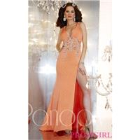 Full Length V-Neck Gown by Panoply - Brand Prom Dresses|Beaded Evening Dresses|Unique Dresses For Yo