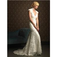 Allure Bridals 8764 White,Ivory Dress - The Unique Prom Store
