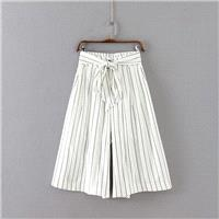 Must-have Oversized Vogue Banded Waist Stripped Wide Leg Pant Casual Trouser Belt - beenono.com