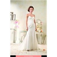 Alfred Angelo - 8528 Modern Vintage 2014 Floor Length Other Straight Sleeveless Short - Formal Bride