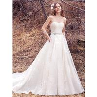 Maggie Sottero Fall/Winter 2017 Dylan Chapel Train Ivory Sweet Sleeveless Aline Strapless with Sash