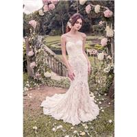 Snow by Annasul Y. 2017 sa3245b Sweetheart Mermaid Sleeveless Chapel Train Sweet Champagne Lace Appl