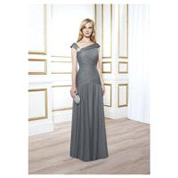 Charming Tulle Sheath Asymmetric Neckline Floor-length Mother of the Bride Dresses - overpinks.com
