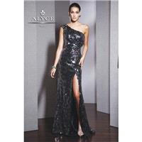 Alyce Black Label 5524 French Gray,Sapphire Dress - The Unique Prom Store