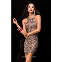 Inexpensive Embellished Haltered Dress by Scala Couture 48335 - Bonny Evening Dresses Online