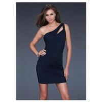Alluring Chiffon One Shoulder Neckline Mini Sheath Homecoming Dress - overpinks.com