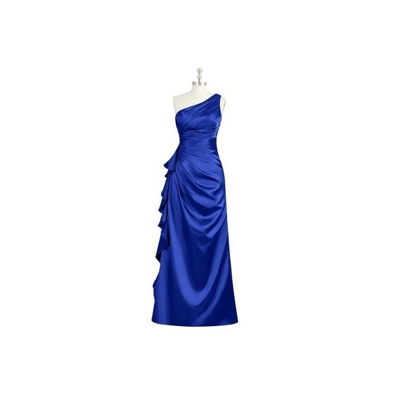 My Stuff, Royal_blue Azazie Kamila - Floor Length Side Zip Charmeuse One Shoulder Dress - Cheap Gorg