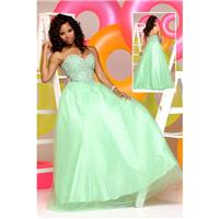 Sparkle Prom by Da Vinci 71563 Mint,Lilac Dress - The Unique Prom Store