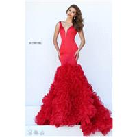 Black Sherri Hill 50487 - Mermaid Dress - Customize Your Prom Dress