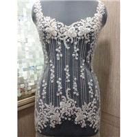 Hand Beaded and Embroidered WEDDING DRESS Bodice, Top or Corset In Over 50 Styles and Colors -  PIPE