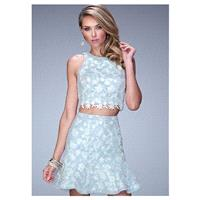Alluring Two-piece Lace Jewel Neckline Sheath Homecoming Dresses - overpinks.com
