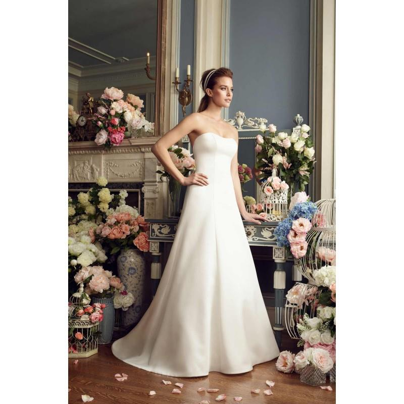 My Stuff, Mikaella Fall/Winter 2017 Style 2166 Satin Bow Simple Cathedral Train Strapless Ivory Alin