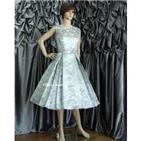Betty - Vintage Style Tea Length Wedding Dress. Available in other colors. - Hand-made Beautiful Dre